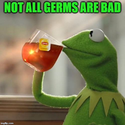 But Thats None Of My Business Meme | NOT ALL GERMS ARE BAD | image tagged in memes,but thats none of my business,kermit the frog | made w/ Imgflip meme maker