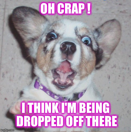 OH CRAP ! I THINK I'M BEING DROPPED OFF THERE | made w/ Imgflip meme maker