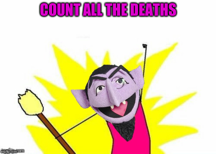 COUNT ALL THE DEATHS | made w/ Imgflip meme maker