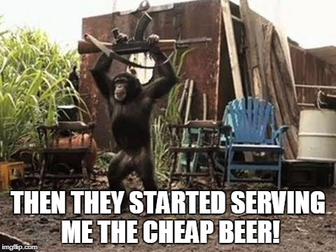THEN THEY STARTED SERVING ME THE CHEAP BEER! | made w/ Imgflip meme maker