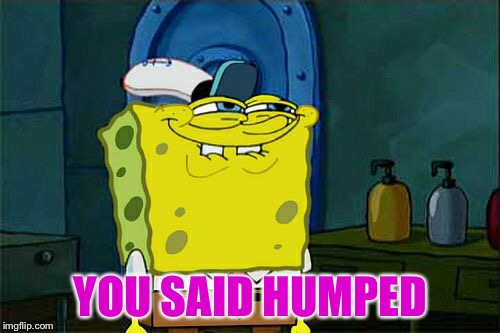 Dont You Squidward Meme | YOU SAID HUMPED | image tagged in memes,dont you squidward | made w/ Imgflip meme maker