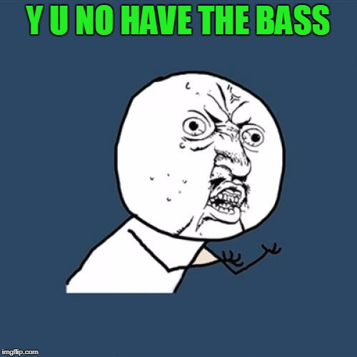 Y U No Meme | Y U NO HAVE THE BASS | image tagged in memes,y u no | made w/ Imgflip meme maker