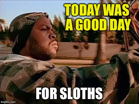 TODAY WAS A GOOD DAY FOR SLOTHS | made w/ Imgflip meme maker