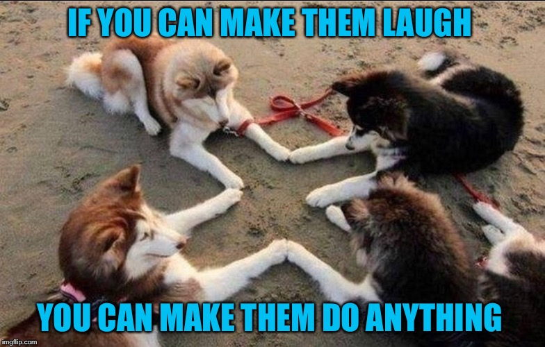 IF YOU CAN MAKE THEM LAUGH YOU CAN MAKE THEM DO ANYTHING | made w/ Imgflip meme maker