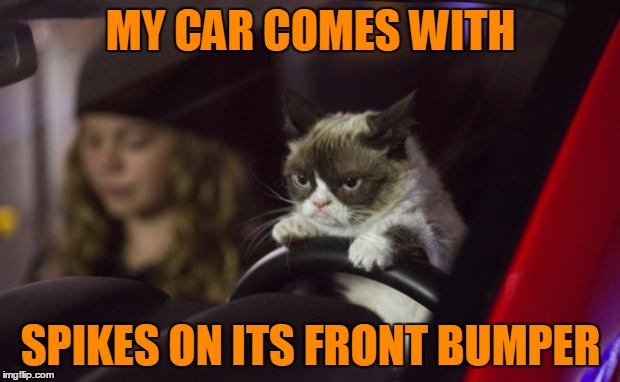 MY CAR COMES WITH SPIKES ON ITS FRONT BUMPER | made w/ Imgflip meme maker