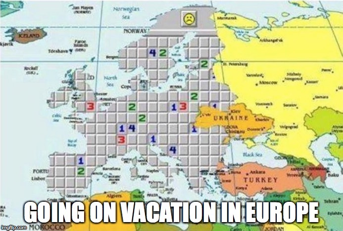 L | image tagged in vacation,europe,terrorism,minesweeper | made w/ Imgflip meme maker