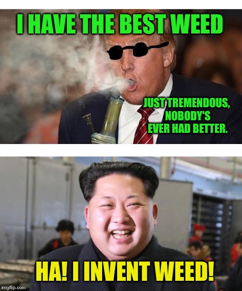 I HAVE THE BEST WEED JUST TREMENDOUS, NOBODY'S EVER HAD BETTER. HA! I INVENT WEED! | made w/ Imgflip meme maker