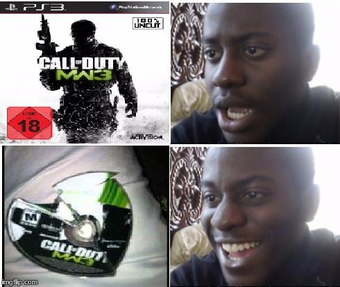 Let the triggered CoD fans hate •_•)( •_•)>⌐■-■(⌐■_■) | . | image tagged in cod,games,video games,funny,disappointed black guy,haters gonna hate | made w/ Imgflip meme maker