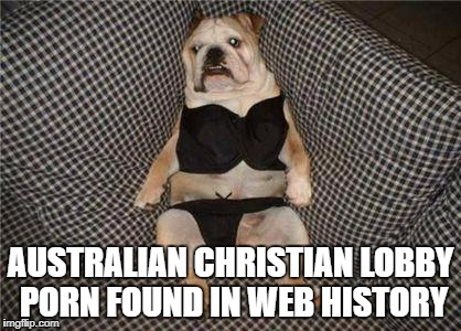 AUSTRALIAN CHRISTIAN LOBBY PORN FOUND IN WEB HISTORY | image tagged in acl's sex fetish | made w/ Imgflip meme maker