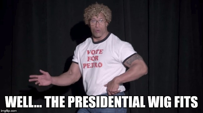 WELL… THE PRESIDENTIAL WIG FITS | made w/ Imgflip meme maker