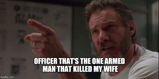 OFFICER THAT'S THE ONE ARMED MAN THAT KILLED MY WIFE | made w/ Imgflip meme maker