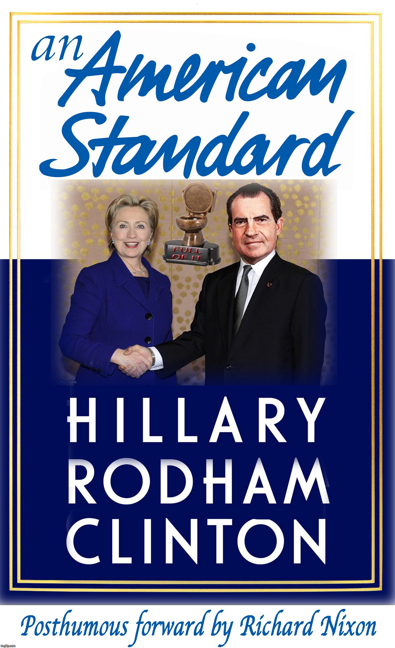 this book would have been a royal flush..... [satirical content] | B | image tagged in hillary clinton,richard nixon | made w/ Imgflip meme maker