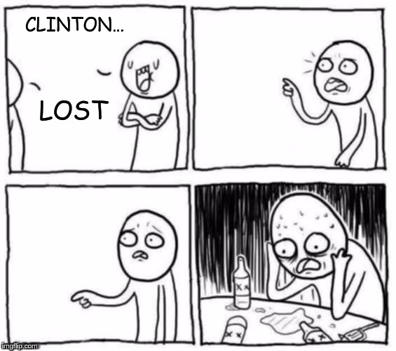 objection | CLINTON… LOST | image tagged in objection | made w/ Imgflip meme maker