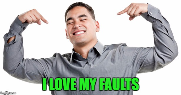 I LOVE MY FAULTS | made w/ Imgflip meme maker