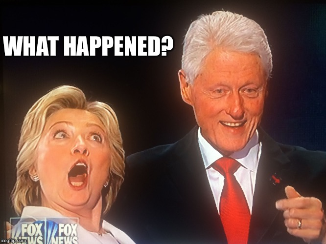 WHAT HAPPENED? | image tagged in hillary clinton butt slap | made w/ Imgflip meme maker