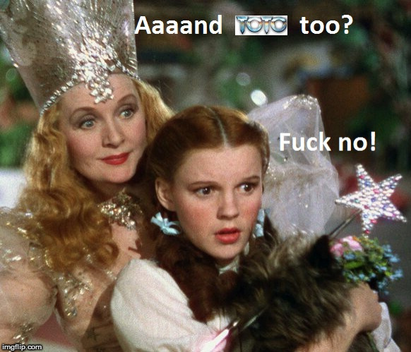 Dorothy and Glinda and Toto too | image tagged in dorothy,oz,wizard,glinda,toto | made w/ Imgflip meme maker