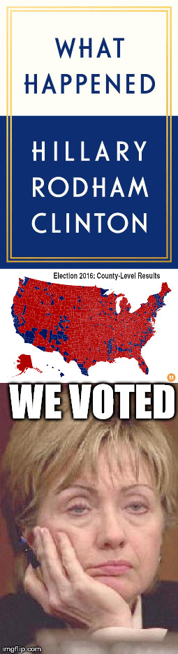 A Simple Explanation | WE VOTED | image tagged in what happened,hillary clinton fail | made w/ Imgflip meme maker