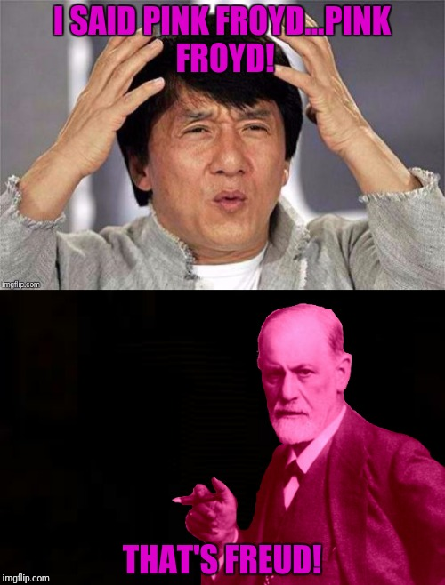 I SAID PINK FROYD...PINK FROYD! THAT'S FREUD! | made w/ Imgflip meme maker
