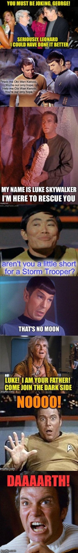 Mirror Mirror | image tagged in star wars,star trek | made w/ Imgflip meme maker