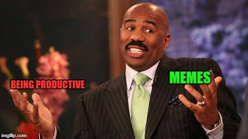 Steve Harvey Meme | BEING PRODUCTIVE MEMES | image tagged in memes,steve harvey | made w/ Imgflip meme maker