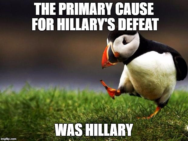 "Telling voters that ""You're either with me, or you're with the deplorables"" was a classic own goal 