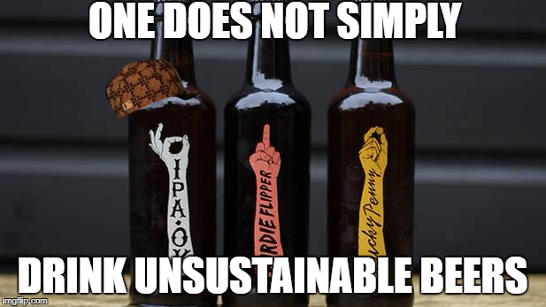 How to drink environmentally sustainable beers | ONE DOES NOT SIMPLY DRINK UNSUSTAINABLE BEERS | image tagged in sustainability,ecosoc,kcl,pub,beers,funny | made w/ Imgflip meme maker