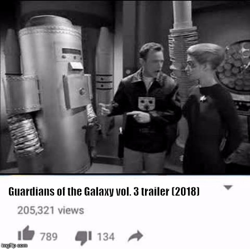 Guardians of the Galaxy vol. 3 trailer (2018) | image tagged in captain proton,startrek,seven of nine,star trek voyager,guardians of the galaxy | made w/ Imgflip meme maker