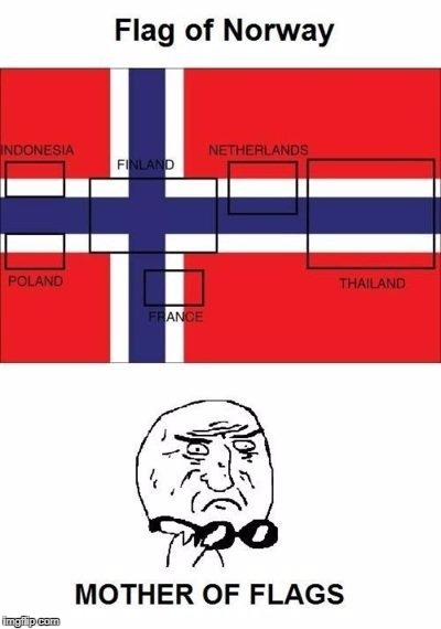 Norway - LIKE A BOSS | image tagged in flag week,funny,flags,stolen,events | made w/ Imgflip meme maker