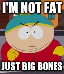 I'M NOT FAT JUST BIG BONES | made w/ Imgflip meme maker