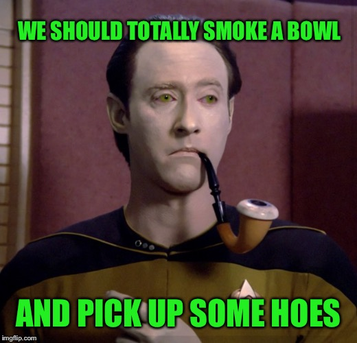 WE SHOULD TOTALLY SMOKE A BOWL AND PICK UP SOME HOES | made w/ Imgflip meme maker