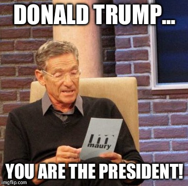 Maury Lie Detector Meme | DONALD TRUMP... YOU ARE THE PRESIDENT! | image tagged in memes,maury lie detector | made w/ Imgflip meme maker