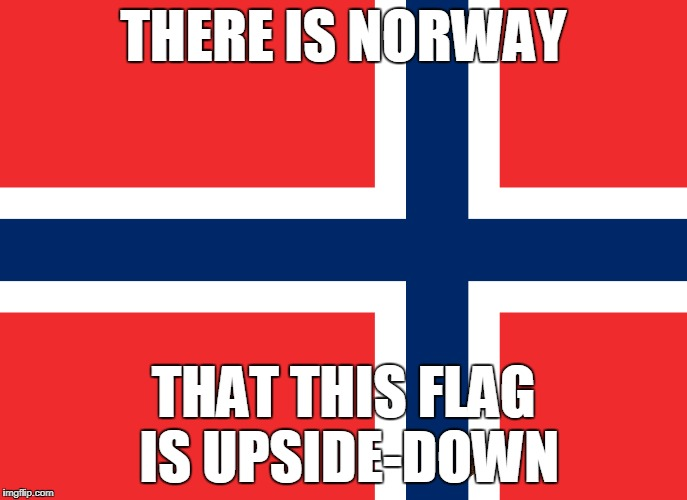 Is Flag Week still on, Finb? | THERE IS NORWAY THAT THIS FLAG IS UPSIDE-DOWN | image tagged in memes,flag week,scumbag,bad joke | made w/ Imgflip meme maker