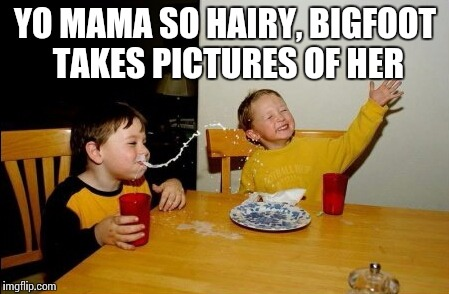 Yo mama | YO MAMA SO HAIRY, BIGFOOT TAKES PICTURES OF HER | image tagged in memes,yo mama,bigfoot | made w/ Imgflip meme maker