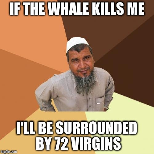 IF THE WHALE KILLS ME I'LL BE SURROUNDED BY 72 VIRGINS | made w/ Imgflip meme maker