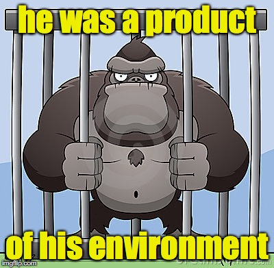 he was a product of his environment | made w/ Imgflip meme maker