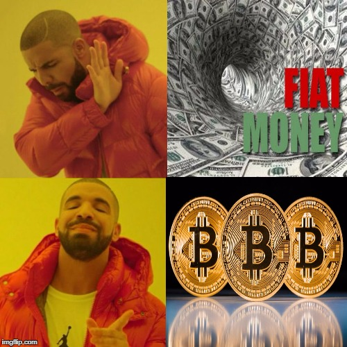 image tagged in drake,bitcoin,altcoin,crypto,cryptocurrency,currency | made w/ Imgflip meme maker