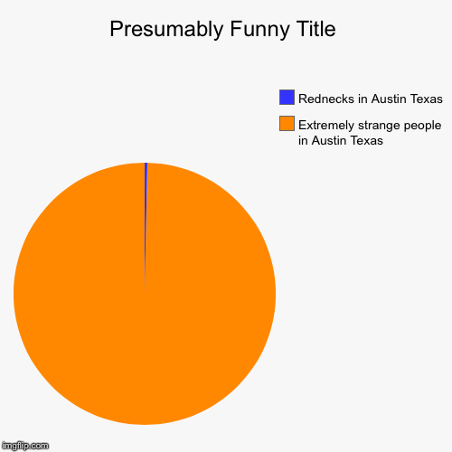 Extremely strange people in Austin Texas , Rednecks in Austin Texas | image tagged in funny,pie charts | made w/ Imgflip pie chart maker