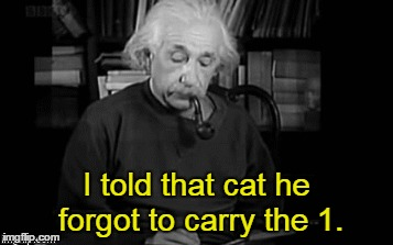 I told that cat he forgot to carry the 1. | made w/ Imgflip meme maker