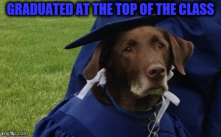 GRADUATED AT THE TOP OF THE CLASS | made w/ Imgflip meme maker
