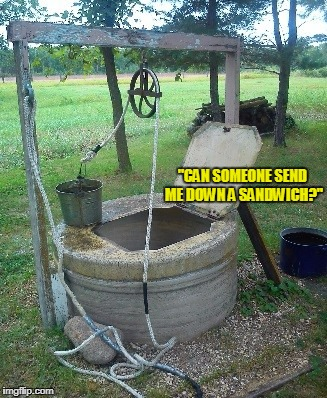 """CAN SOMEONE SEND ME DOWN A SANDWICH?"" 