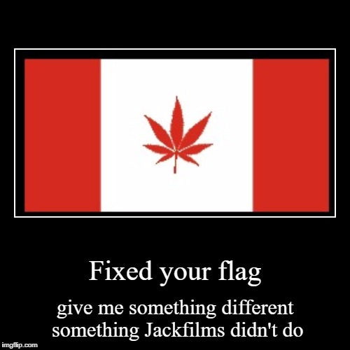 Transformed Flag:1 | Fixed your flag | give me something different something Jackfilms didn't do | image tagged in funny,demotivationals | made w/ Imgflip demotivational maker