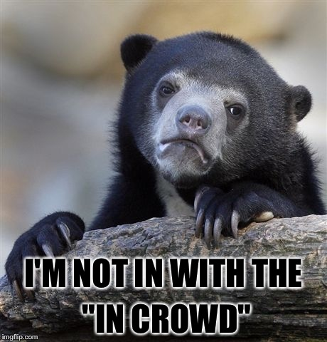 "Confession Bear Meme | I'M NOT IN WITH THE ""IN CROWD"" 