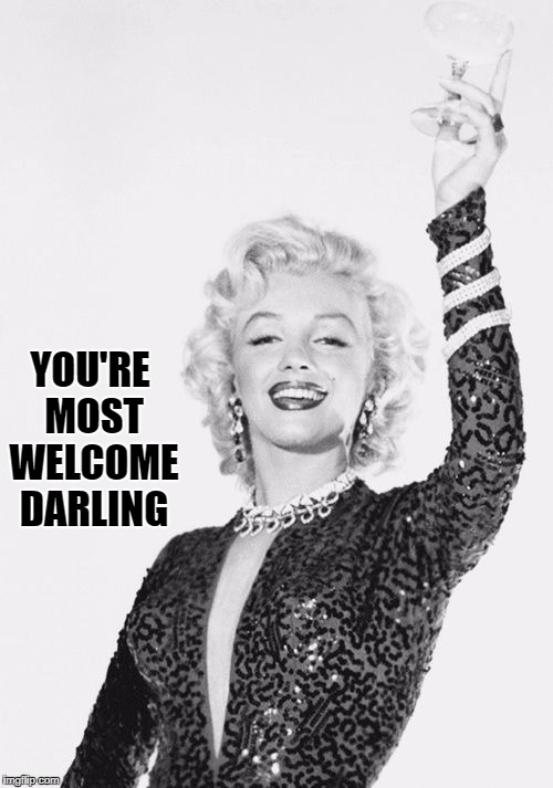 Cheers craziness 3 | YOU'RE MOST WELCOME DARLING | image tagged in cheers craziness 3 | made w/ Imgflip meme maker
