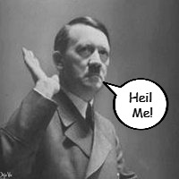 "I wonder if this was his response to ""Heil Hitler!""  
