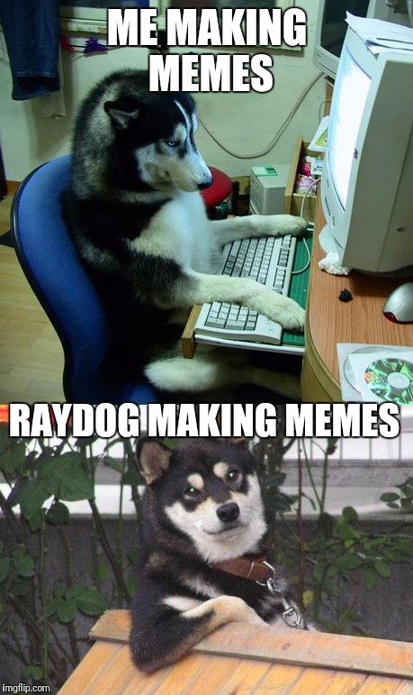 Surprisingly Accurate. | ME MAKING MEMES RAYDOG MAKING MEMES | image tagged in raydog,memes | made w/ Imgflip meme maker