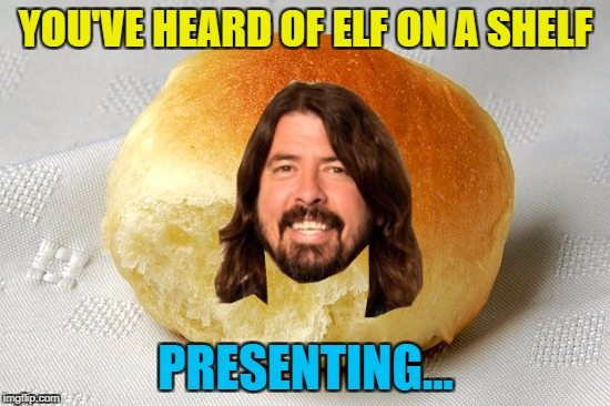 These could run and run... :) | YOU'VE HEARD OF ELF ON A SHELF PRESENTING... | image tagged in memes,elf on a shelf,grohl on a roll,dave grohl,music,imgflip trends | made w/ Imgflip meme maker