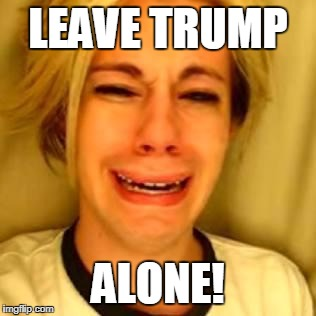 leave alone | LEAVE TRUMP ALONE! | image tagged in leave alone | made w/ Imgflip meme maker