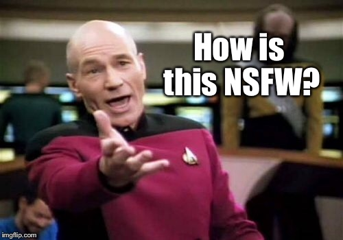 Picard Wtf Meme | How is this NSFW? | image tagged in memes,picard wtf | made w/ Imgflip meme maker