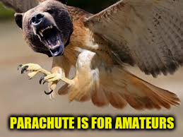 PARACHUTE IS FOR AMATEURS | made w/ Imgflip meme maker