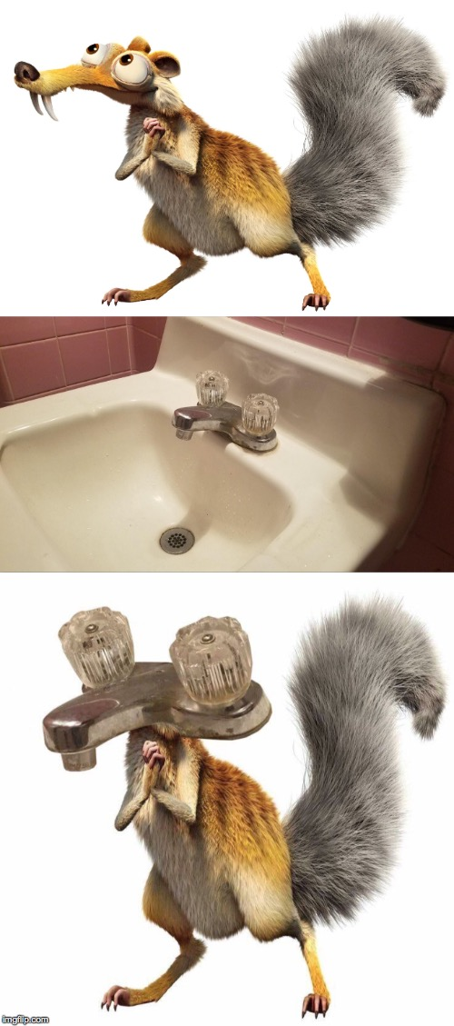 Anybody notice anything different? | ANYBODY NOTICE A DIFFERENCE? | image tagged in sink,ice age,one does not simply | made w/ Imgflip meme maker